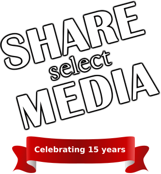 Share Select Media 15th anniversary logo